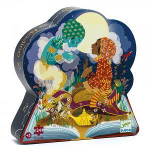 Djeco - DJ07281 - Puzzles silhouettes - Aladin - 24 pcs (423158)