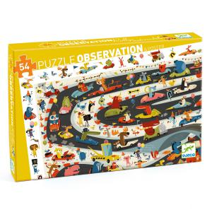 Djeco - DJ07564 - Puzzles observation - Rallye automobile - 54 pcs (423160)
