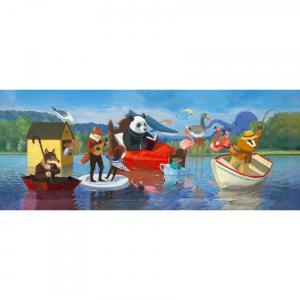 Djeco - DJ07617 - Puzzle Gallery Summer Lake - 350 pièces (423164)