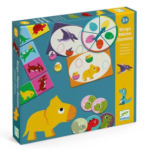 Djeco - DJ08132 - Jeu éducatif Bingo Memo Domino - Dinosaures (423172)