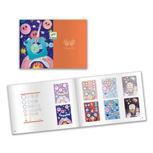 Djeco - DJ08736 - Dessin et coloriage - Spirales - Bloc 10 thèmes (423204)