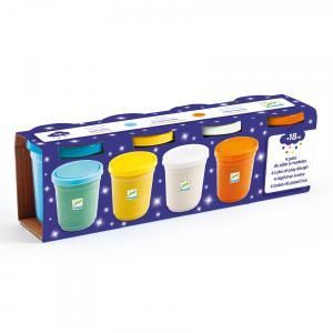 Djeco - DJ09029 - 13 - 4 pots de pâte à modeler - Pailletées (423440)