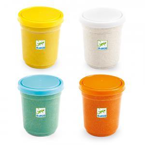 Djeco - DJ09029 - Modelage - 4 pots de pâte à modeler - Pailletées (423440)