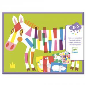 Djeco - DJ09046 - Stickers pour les petits  - Les grands animaux (423446)