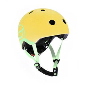 Scoot and Ride - SR-HXXSCW09 - Casque XS - Citron - de 45 à 51 cm en périmètre cranien (423630)