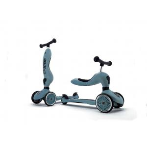 Scoot and Ride - SR-HWK1CW08 - Trottinette 2 en 1 Highwaykick 1 - Bleu acier (423756)