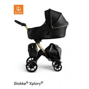 Stokke - BU206 - Poussette bébé Xplory Gold édition limitée et nacelle (424068)