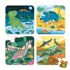 Janod - J02657 - 4 puzzles evolutifs- dinosaures (6-9-12-16 pcs) (424084)