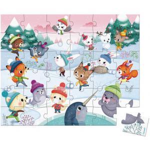 Janod - J02662 - Puzzle bataille de boules de neige - 36 pcs (424094)