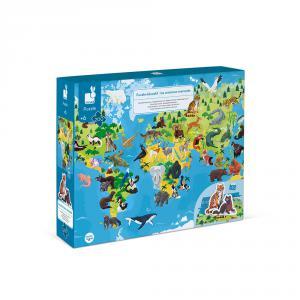Janod - J02676 - Puzzle educatif- les animaux menaces - 200 pcs (424118)