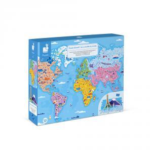 Janod - J02677 - Puzzle educatif- les curiosites du monde - 350 pcs (424120)