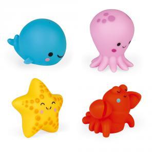 Janod - J04703 - 4 gicleurs de bain - les animaux de la mer (424202)