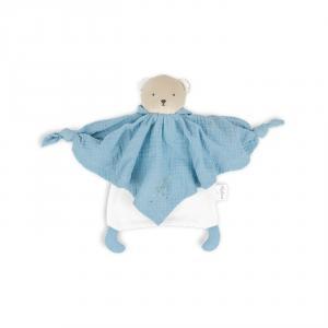 Kaloo - K969593 - Petit pas - doudou coton bio ourson bleu (424536)