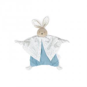 Kaloo - K969596 - Petit pas - doudou coton bio lapinou bleu (424542)