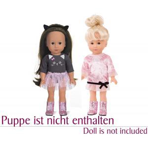 Gotz - 3403149 - Ensemble Just Like Me, Cat in Style, 6 pièces pour poupées de 27 cm (426172)