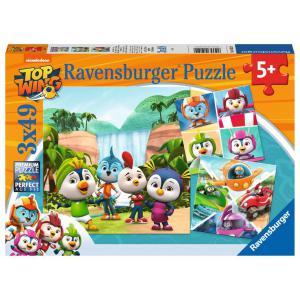 Ravensburger - 05052 - Puzzles 3x49 pièces - Emotions fortes en équipe / Top Wing (426422)