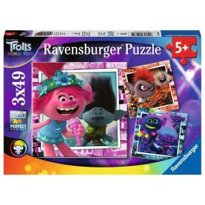 Ravensburger - 05081 - Puzzles 3x49 pièces - Tournée mondiale / Trolls 2 (426428)