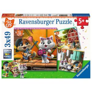 Ravensburger - 05013 - Puzzles 3x49 pièces - Bienvenue chez les 44 Chats ! (426430)