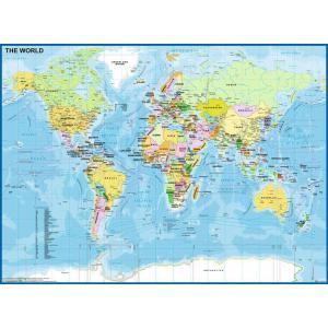 Ravensburger - 12890 - Puzzle 200 pièces XXL - Carte du Monde (426458)