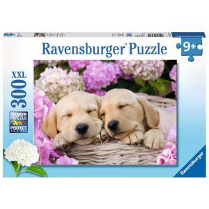 Ravensburger - 13235 - Puzzle 300 pièces XXL - Mignons chiots dans la corbeille (426470)