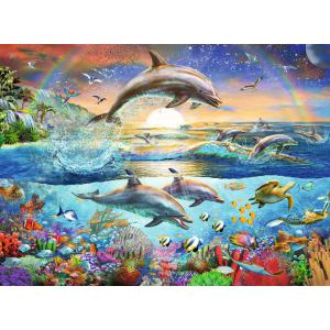 Ravensburger - 12895 - Puzzle 300 pièces XXL - Le paradis des dauphins (426472)