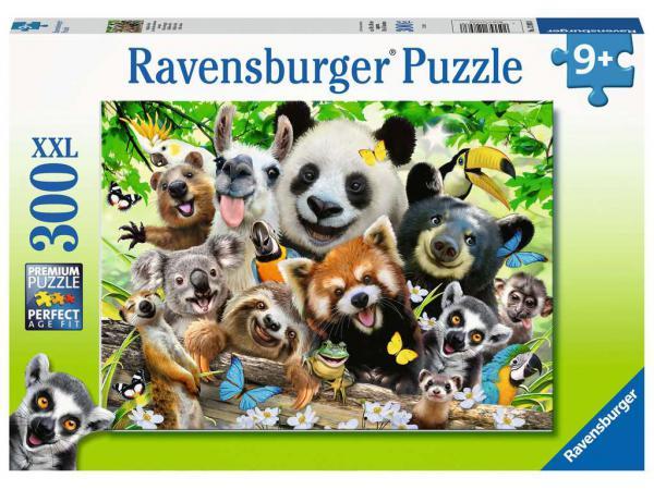 Puzzle 300 pièces xxl - le selfie des animaux sauvages