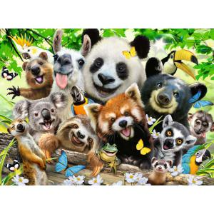 Ravensburger - 12893 - Puzzle 300 pièces XXL - Le selfie des animaux sauvages (426476)