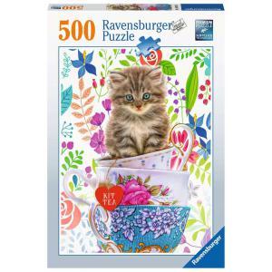 Ravensburger - 15037 - Puzzle 500 pièces - Chaton dans une tasse (426482)