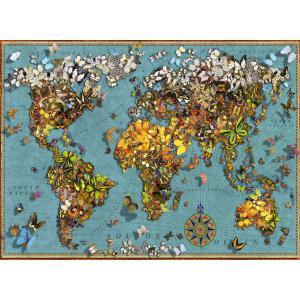 Ravensburger - 15043 - Puzzle 500 pièces - Mappemonde de papillons (426490)