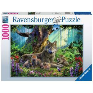 Ravensburger - 15987 - Puzzle 1000 pièces - Famille de loups dans la forêt (426508)