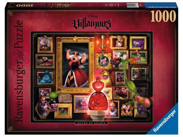Puzzle 1000 pièces - la reine de cœur (collection disney villainous)