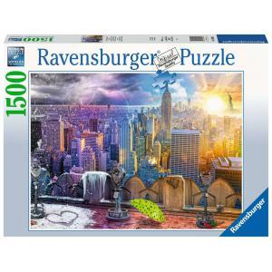 Ravensburger - 16008 - Puzzle 1500 pièces - Les saisons à New York (426542)