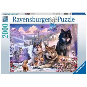 Ravensburger - 16012 - Puzzle 2000 pièces - Loups dans la neige (426548)