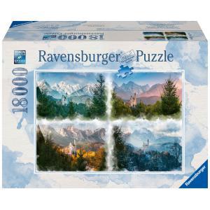 Ravensburger - 16137 - Puzzle 18000 pièces - Un château au fil des saisons (426564)
