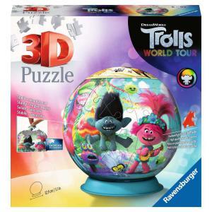 Ravensburger - 11169 - Puzzle 3D Ball 72 pièces - Trolls 2 (426592)