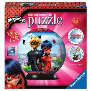 Ravensburger - 11167 - Puzzle 3D Ball 72 pièces - Miraculous (426594)