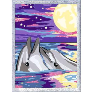 Ravensburger - 28681 - Numéro d'art - moyen - Dauphins au clair de lune (426652)