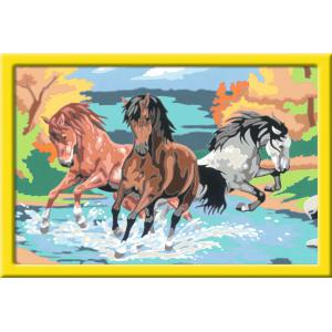 Ravensburger - 28682 - Numéro d'art - grand - Horde de chevaux (426656)