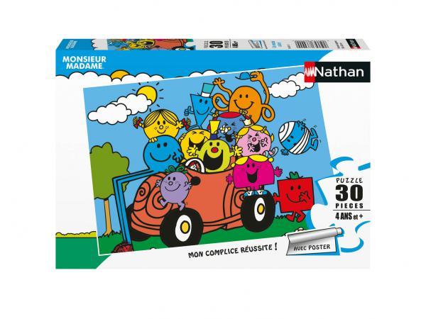 Puzzle 30 pièces - un monde coloré / monsieur madame