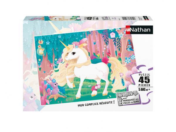 Puzzle 45 pièces - jolie licorne