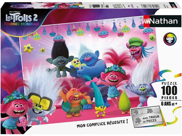 Puzzle 100 pièces - poppy et ses amis / trolls 2