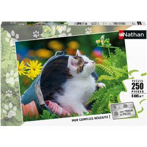 Nathan puzzles - 86876 - Puzzle 250 pièces - Petit chaton curieux (426724)