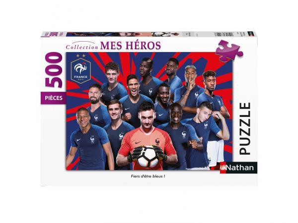 Puzzle 500 pièces - fiers d'être bleus ! / fff