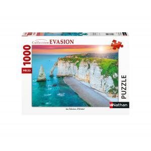 Nathan puzzles - 87630 - Puzzle N 1000 pièces - Les falaises d'Etretat (426746)