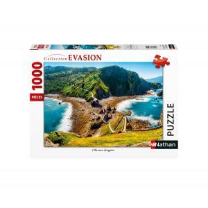 Nathan puzzles - 87631 - Puzzle N 1000 pièces - L'île aux dragons (426750)