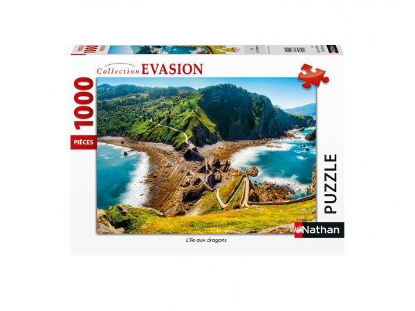 Puzzle n 1000 pièces - l'île aux dragons