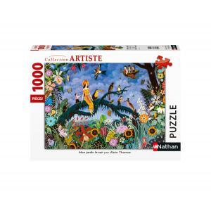 Nathan puzzles - 87633 - Puzzle N 1000 pièces - Mon jardin le soir / Alain Thomas (426756)