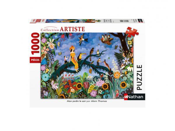 Puzzle n 1000 pièces - mon jardin le soir / alain thomas
