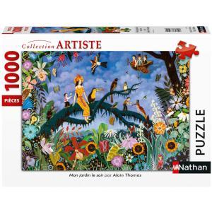 Nathan puzzles - 87633 - Puzzle 1000 pièces - Mon jardin le soir / Alain Thomas (426756)