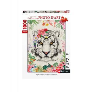 Nathan puzzles - 87635 - Puzzle N 1000 pièces - Tigre oriental (426758)